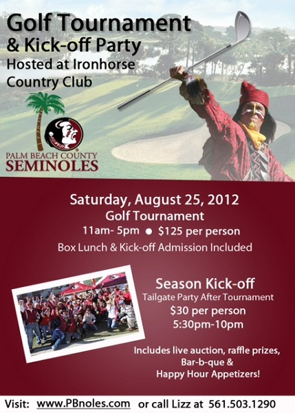 Palm Beach Seminole Club Golf Tournament/Kickoff Party